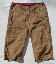 ROYAL ROBBINS Khaki Brown Hike Travel Cargo Crop Pants size 6 EUC