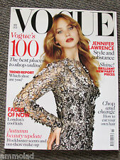 Rare British VOGUE UK Magazine November 2012 Jennifer Lawrence