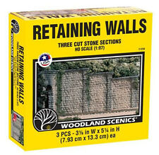 Woodland Scenics C1259 HO Cut Stone Wing Wall (3) Train Scenery