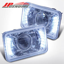 4X6 CHROME HOUSING DIAMOND CUT LED PROJECTOR HEADLIGHTS - CHEVY CAMARO 82-92