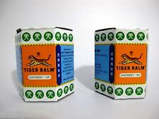 2 x 30g WHITE TIGER BALM MASSAGE OVER-THE-COUNTER& PAIN RELIEF BIG JAR FREE SHIP