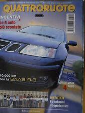 Quattroruote 564 2002 - Al volante Jaguar Coupè XKR - SAAB 9.3   [Q34]