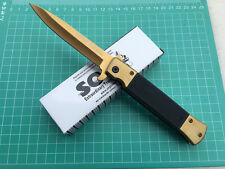 SOG Assisted Opening Folding Pocket Golden Knife Hunting Camping Fishing Rescue