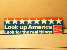 COCA-COLA 1975-76 BUMPER STRIP NEW old stock STICKER