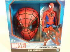"""Spiderman Face Mask and 11- 1/2"""" Action Figure Titan Hero Series"""