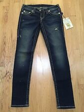 NWT TRUE RELIGION SKINY NATURAL BIG T SIZE 27 IN MSM AVALON