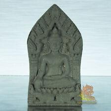 Thai Amulet Buddha Phra Khun Paen Iyara Black Powder & Herb KrubaYai Boonma