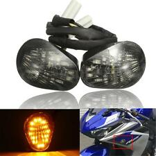 Smoke Flush Mount LED Turn Signal Indicator Light Lamp For Yamaha YZF R1 R6 R6S