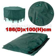 186x100cm 73'' x 39'' Outdoor Round Garden Furniture Cover For Patio Table Chair