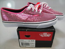 VANS Girls Authentic Glitter Pink/Micro Dots Lace-UpAthletic Sneaker Size US 4 M