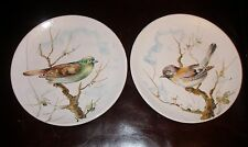 Vintage 1960s Italian Pottery Painted Birds Artist Signed Sparrow & Bunting MINT