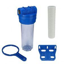 """Wasser Filtergehäuse 10"""" 3-teilig 3/4"""" IG Messing Vorfilter Pool + Wickelfilter"""