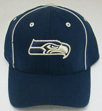 """NFL Seattle Seahawks Navy Blue """"One Fit"""" Fitted Hat By Reebok"""