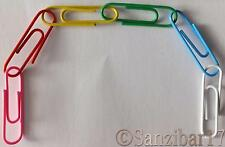 10000 New 33mm Large Vinyl Coated Multi Coloured Art And Crafts Paperclips.