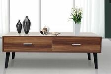 Vintage Coffee Table Retro TV Unit Stand Large Wooden Cabinet Living Furniture