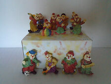 12 Circus Clown Figurines