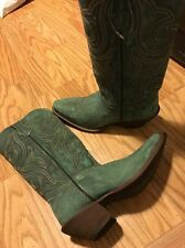 Durango Seafoam Green Cowgirl Western Leather Boots Women's 9M 9