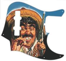 J Jazz Bass Pickguard Custom Fender Graphic Graphical Guitar Pick Guard Bandito