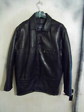 VINTAGE AKASO LEATHER BOX JACKET CAR COAT MAC SIZE S - M