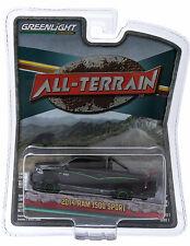 1:64 GreenLight *ALL-TERRAIN 1* Black 2014 Dodge Ram 1500 Pickup Truck 4x4 *NIP*