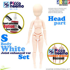 AZONE 1/12 Picco Neemo S Body Joint enhanced ver & Head part set White Doll NEW