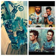 Vintage Tyler Durden Fight Club Motocross Shirt Op 523 Moto Rare Unique