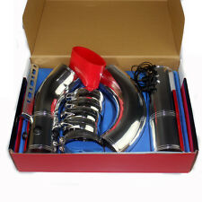 Multi-Combined Aluminium 76mm=3 inch Cold Air Intake System Pipe Induction Kit
