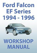FORD FALCON EF Series WORKSHOP MANUAL: 1994-1996