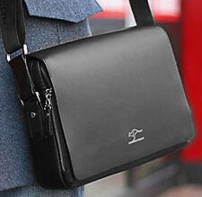 Authentic kangaroo kingdom Men's Genuine Leather/PU Shoulder bag Black_M166B