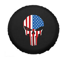 """Skull Flag Spare Tire Covers 17"""" Universal For all car New Fashion"""