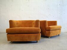 original mid century modern lounge chairs low and large milo baughman probber