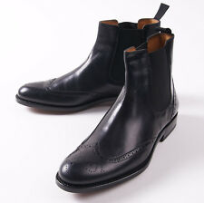 NIB $945 CANALI 1934 Goodyear-Welt Black Leather Ankle Boots US 10.5 D Shoes