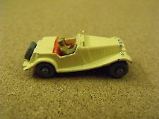 OLD VINTAGE LESNEY MATCHBOX # 19 MG SPORTS CAR