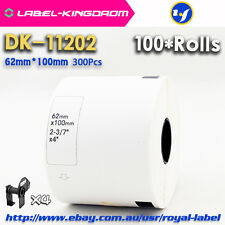 100 Rolls Brother QL-700 Compatible DK-11202 Label 62*100mm Adhesive Sticker