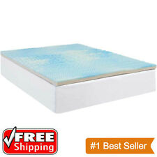 "THE BEST 3"" KING SIZE COMFORT Gel Memory Foam MATTRESS PAD Orthopedic BED TOPPER"