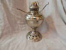 Antique Bradley and Hubbard B&H Oil Lamp (Nickel Plated Brass?) 1905