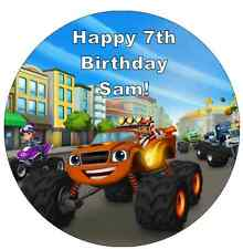 "Blaze And The Monster Machines Personalised Cake Topper 7.5"" Edible Wafer Paper"