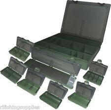 Large 7+1 Tackle Box Storage System Specialst Carp Fishing Box + Hair Rig Board