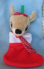 "RUDOLPH THE RED NOSED REINDEER 9"" PLUSH DOLL ORNAMENT, Prestige"