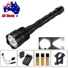 Tactical 6000LM 3x XML T6 LED Flashlight Torch Mount Gun Light 3x18650+Switch AU