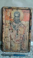 antique wood religious icon