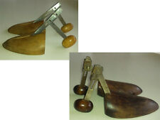 TWO PAIR: Vintage Adjustable Wood Shoe Keepers Shoe Tree Stretchers Shapers