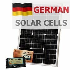 50W 12V dual battery solar panel kit for motorhome caravan boat yacht (50 watt)