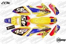 Factory Rockstar CRF70 Plastics & Graphics Kit Pit Bike Stomp Yellow NEW DESIGN!