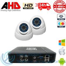 KIT AHD 720p DVR 4CH H264 + 2 CAMARAS INTERIOR MINI DOMO HD CCTV VIDEOVIGILANCIA