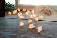 Beach REAL shell seashell nautical string of lights lake decor Christmas 34100
