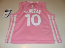 NBA Toronto Raptors DeMar DeRozan Pink Small Girls Toddler 2015-16 Jersey Age 4T