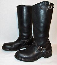 Vintage BIKE 10 Tall Black Leather Harness Engineer Motorcycle Riding Boots