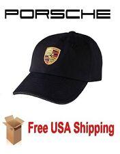 Genuine PORSCHE Crest Cap / Hat  BLACK