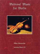 Medieval Music For Violin Learn to Play Folk Songs Fiddle Music Book & CD